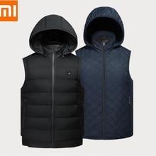 Xiaomi PMA Графен Теплый жилет для отдыха пара инфракрасная подкладка для хранения тепла теплый пуховик зимний мужской женский теплый жилет