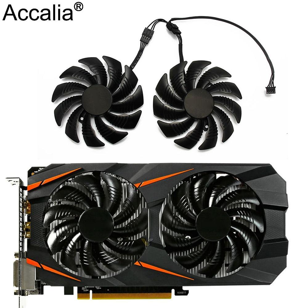 T129215SU 88 мм GPU кулер для видеокарты вентилятор для REDEON AORUS RX580/570 GIGABYTE GV-RX570AORUS GV-RX580AORUS карт в качестве замены