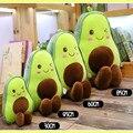 Crianças meninas presentes de aniversário de natal 30-85 cm bonito 3d abacate recheado de pelúcia brinquedo dos desenhos animados fruta travesseiro sofá almofada macio boneca do bebê