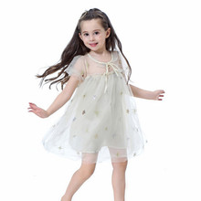 Get more info on the hilittlekids Mesh Birthday Party Dress Summer Casual Baby Girls Star Print Mesh Dress Cotton Kids Toddler Flare Sleeve Sundress