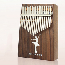 Kalimba 17 Key  Piano Ballet girl Black walnut wood Thumb Instrument Gift Popular Keyboard