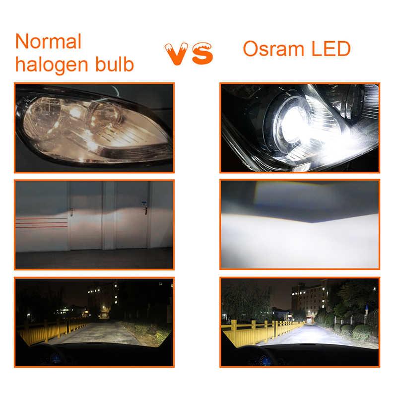 Osram 9005 H11 LED  H7 Waterproof Car Lights 6000K H4 H1 9006 HB4 HB3 H9 9012 HIR2 Car Headlight Fog Bulb H8 H11 LEDriving Pair