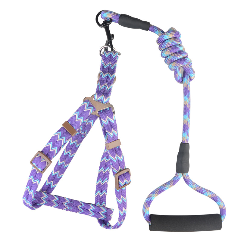 Set Arrowhead Small And Medium Chest And Back Pet Traction Rope Jacquard Dogs Unscalable Dog Chain Bichon Dog Traction Rope Dog