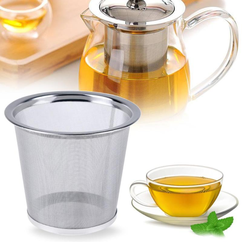 Stainless Steel Reusable Tea Strainer Teapot Coffee Tools Mesh Infuser Tea Leaf Spice Filter Drinkware Kitchen Accessories