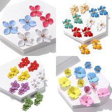 Korean Version Of The New Design Flower Earrings Womens Sweet And Lovely Acrylic Boho Style Jewelry Brincos