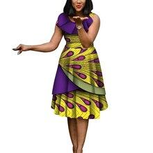 Новые модные африканские платья для женщин, сексуальное платье без рукавов Bazin Riche, хлопковое платье с принтом в африканском стиле, Женские Элегантные платья для вечеринок WY4413