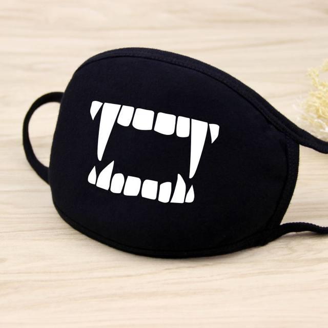 Cotton Dust Mask Cartoon Expression Face Respirator Anti virus