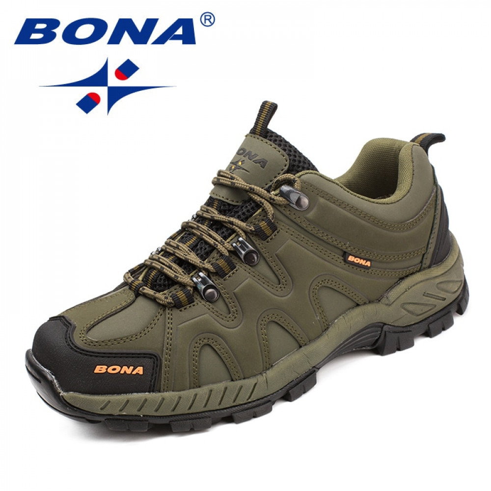 Hiking-Shoes Lace-Up BONA Outdoor Classics-Style Jogging New-Arrival Men Fast