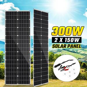 18V Solar Panel 300W/150W Semi-flexible Monocrystalline Solar Cell DIY Cable Waterproof Outdoor Rechargeable Power System