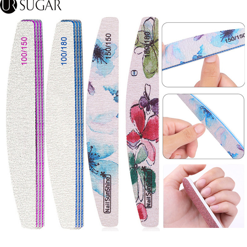 Nail File 100/180 Sanding Buffer Block Pedicure  Buffing Polishing Nail Art Tools Professional Nail Files For UV Gel