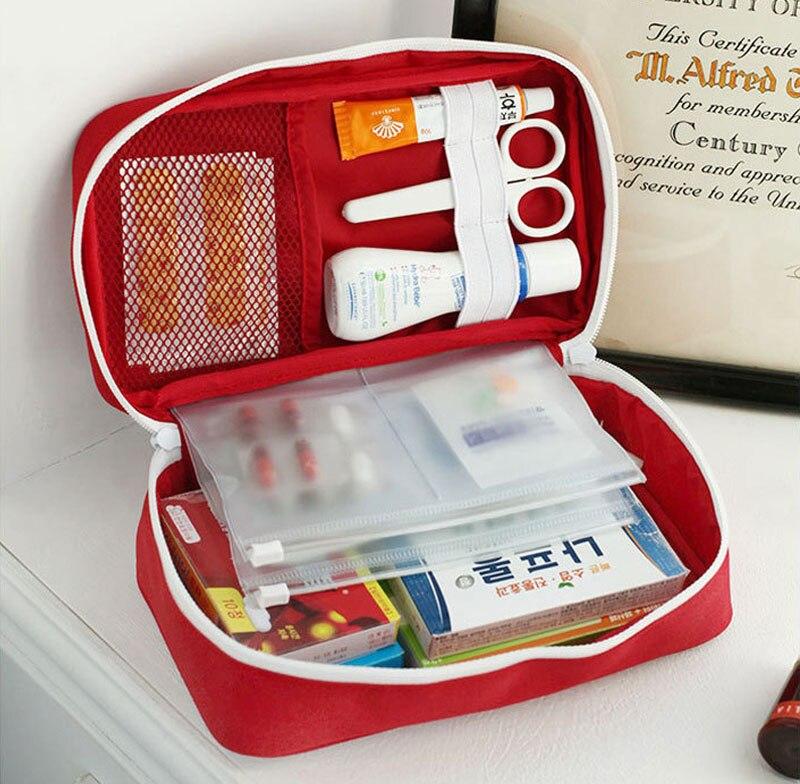 Kit de primeiros socorros vazio, bolsa médica de emergência, grande capacidade, portátil para sobrevivência, viagem, acampamento, casa/carro
