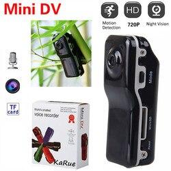 Mini câmera digital hd detecção de movimento dv dvr gravador de vídeo câmera de vigilância md80 câmera de segurança em casa aérea filmadoras