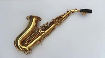Saksofon sopranowy Tom BB zakrzywione saksofon sopranowy z Bcreated instrument muzyczny saksofon saksofon dla dzieci i przypadku tanie i dobre opinie Bakelitu Spada dostroić b (c) Mosiądz Złoty lakier
