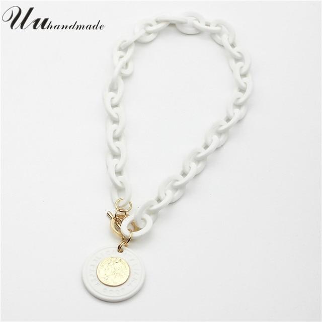 Coin Pendant geometric Necklace  6