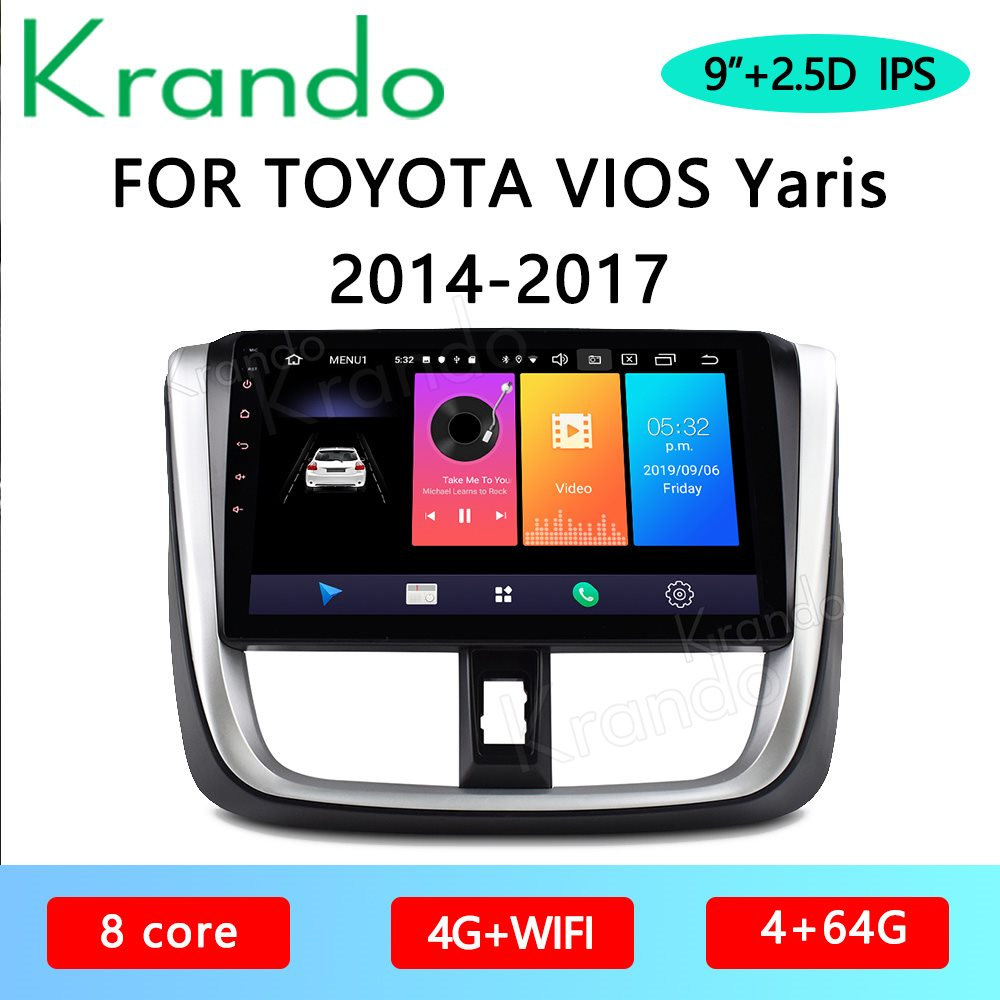 """Flash Deal Krando Android 10.0 9"""" 4G 64 IPS Full Touch Car"""