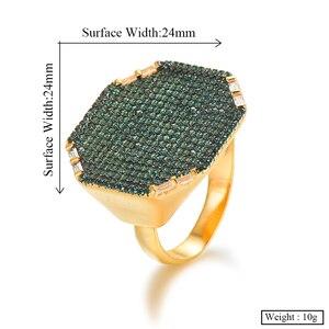 Image 5 - Godki 2019 na moda geometria quadrada zircão cúbico pilhas anéis para as mulheres anéis de dedo grânulos charme anel boêmio praia jóias 2019