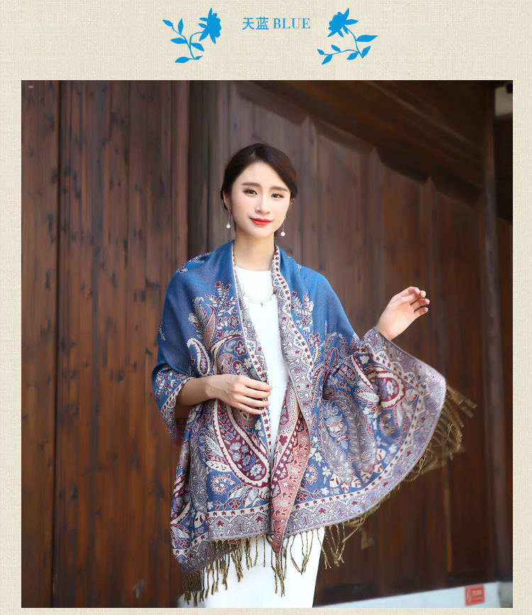 National Wind Cotton And Linen Scarf Shawl Female Tassel Qiu Dong Is Prevented Bask In Tourism Winter Scenic Spot And Wholesale