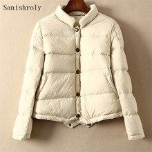 Sanishroly/осенне-зимняя женская Ультралегкая куртка-пуховик на утином пуху, женская короткая пуховая куртка с длинными рукавами, парка, топы, плюс размер SE752