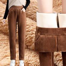 Повседневные утолщенные вельветовые прямые брюки для женщин