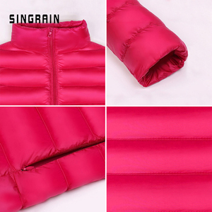Image 4 - למטה מעיל נשים סלעית ultra דק 90% קל במיוחד ברווז למטה מעיל נשי החורף גדול גדלים מוצק נייד חם מעילי אישה