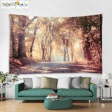 Nature Tapestry Landscape Tree Forest Bedroom Mandala Boho Room Decor Psychedelic Tapiz Hippie Starry Sky Wall Cloth Carpet