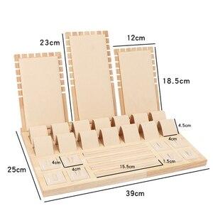 Image 5 - באיכות גבוהה במבוק קטיפה תכשיטי תצוגת עגיל תצוגת Stand אוזן עגילים מתלה בעל אחסון מקרה