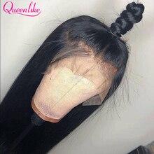 Парик 13x6 на сетке спереди al для черных женщин, парики из человеческих волос, 28, 30, 32 дюйма, длинные бразильские прямые волосы, прямой парик на ...