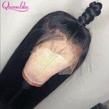 13x6 peruca frontal do laço para perucas pretas do cabelo humano das mulheres 28 30 32 polegadas de longa peruca dianteira do laço do osso reto brasileiro do cabelo