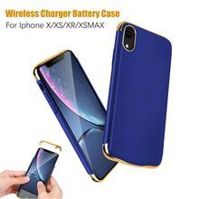 XGODY Batterie Fall für iphone X XS XR XSMAX Silikon Stoßfest Batterie Ladegerät Fall 5500/6000mAh Slim Power bank Fall