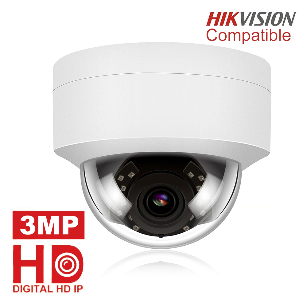 Hikvision Compatible 3MP Dome IP Camera POE IPC-D230W Outdoor Waterproof IR 30m Security Video Surveillance Cameras