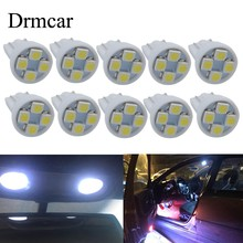 4pcs T10 3528 1210 4SMD White Red Blue 4Led Auto Wedge Tail Lamp Car Signal Led 194 168 W5W DC 12V External Blub High Quality(China)
