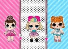 Lol surpresa festa de aniversário fundo pano tema layout anime figura bonecas decoração suprimentos crianças presente