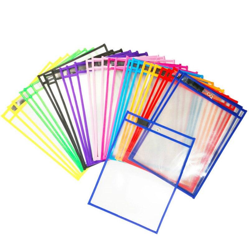 Bolsa de Arquivo Bolsa de Documentos de Bolso para Reutilizável Bolsa de Armazenamento de Documentos Organizador do Escritório Exibição Clara Bolsa Titular 30 Pçs – Set a4