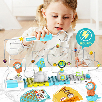 New Electric Educational Toys Touch Battle Maze Firewire Toys Children's Intelligence And Attention Training Table Games Toys