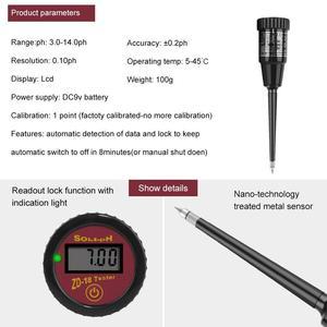 Image 2 - Yieryi novo ZD 18 handheld medidor de umidade do solo com ph medidor faixa de ph 3 88ph, faixa de umidade 1 8 8 para carne de ovo de fruto