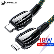 Cafele 18W USB C to for Lightning Charging Cable for iPhone 11 Pro Xs Max X XR 8 Plus Fast Charging USB Cable PD Charger Cable usams usb type c to lighting cable 18w pd fast charging cable for iphone xs max xr x 8 plus ipad pro for lightning to usb c wire