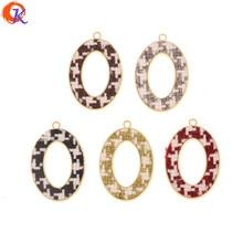 Diseño Cordial 50 piezas 26*38MM accesorios de joyería/dijes/hecho a mano/efecto de tela/ovalado forma/fabricación de joyas DIY/hallazgos de pendientes