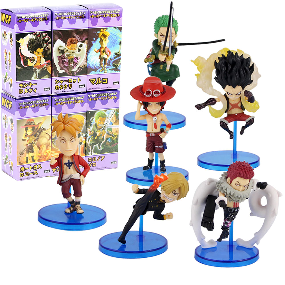 6pcs/set <font><b>One</b></font> <font><b>Piece</b></font> World Collectable <font><b>Figure</b></font> Whole Cake Island 3 WCF Charlotte <font><b>Katakuri</b></font> Luffy Zoro Sanji Ace Marco image