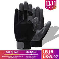 QIANGLEAF marque sécurité travail gants équitation noir gris Protection travail gant en gros livraison gratuite 6490