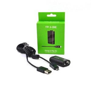 Image 3 - 充電式バッテリー & 充電ケーブルセットプレーと充電 Xbox の One ハンドルパッドワイヤレスコントローラアクセサリー