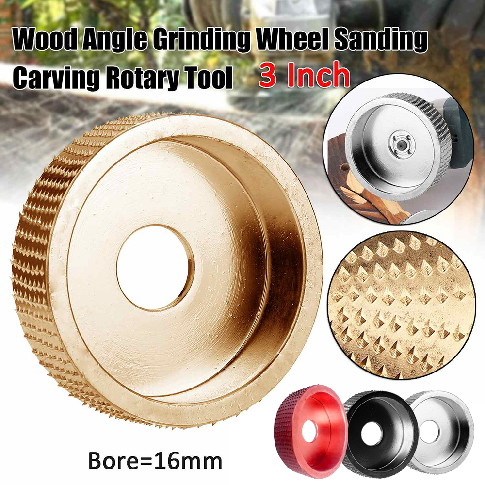 1 Pcs Wood Angle Grinding Wheel Sanding Carving Rotary Tool Abrasive Disc Grinder  Black Red Gold Silver