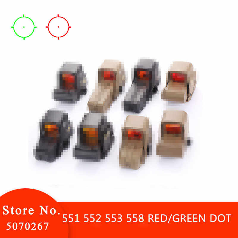 551 552 553 558 Merah Hijau Dot Holographic Sight Lingkup Berburu Red Dot Reflex Sight Lingkup Senapan untuk 20Mm rail Mount