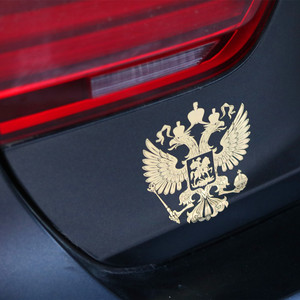 Coat of Arms of Russia Nickel Car Stickers for Mitsubishi ASX Outlander Lancer EX Pajero Opel Mokka Volvo S60 V60 XC60(China)