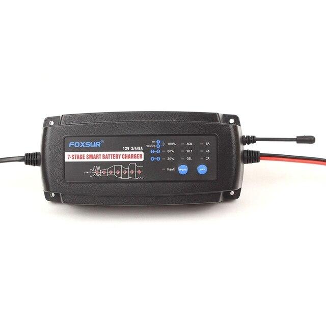 Фото автоматическое умное зарядное устройство 12 в 2 а 4 а 8 7 ступенчатое цена