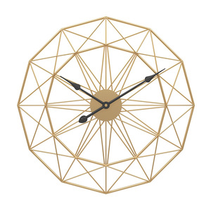 Image 2 - 1PC 60cm Retro Nordic Type Mute Hanger Clocks Iron Art Large Silent Hanging Wall Clock Home Living Room Bedroom Decor New