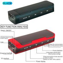 J6 6D סטריאו רמקול Bluetooth 4.2 מסך מגע כפתור כפול רמקול סטריאו FM רדיו