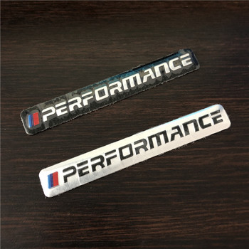 NEW Car Sticker Performance Motorsport Metal Logo Aluminum Emblem Grill Badge for BMW E34 E36 E39 E53 E60 E90 F10 F30 M3 image