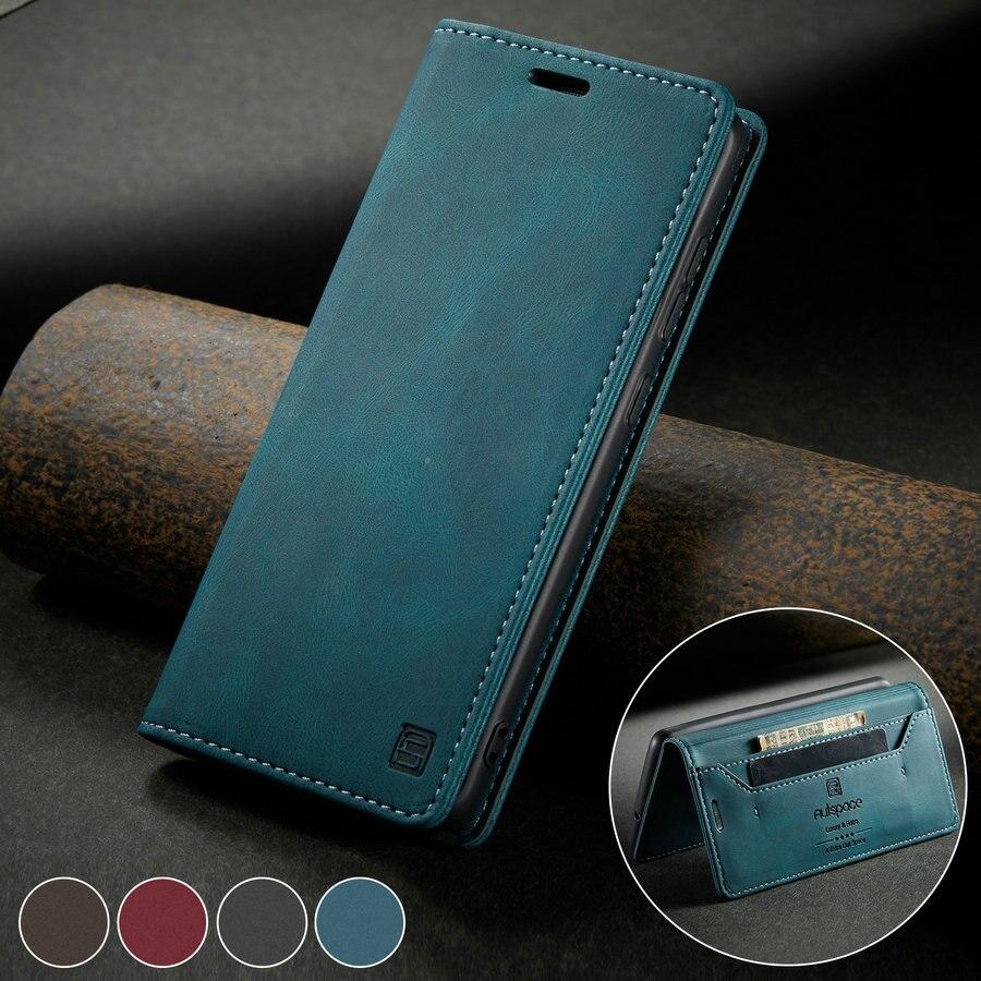 CaseMe флип чехол Примечание 20 A70 A41 A21S A42 для Samsung S20 ультра S10 плюс A51 A20 M31 A70 M30s A50 A71 Чехол-книжка на магнитной чехол в стиле ретро
