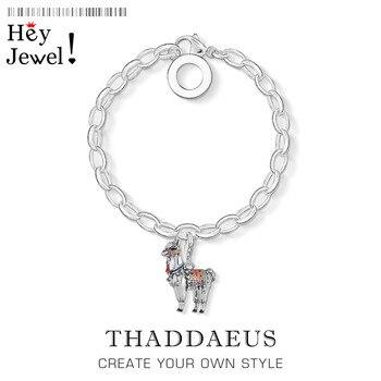 Alpaca Llama encanto pulsera joyería Thomas de Plata de Ley 925 regalo de plata para las mujeres Verano de 2020 marca nueva Ts suerte enlace Cadena de joyería