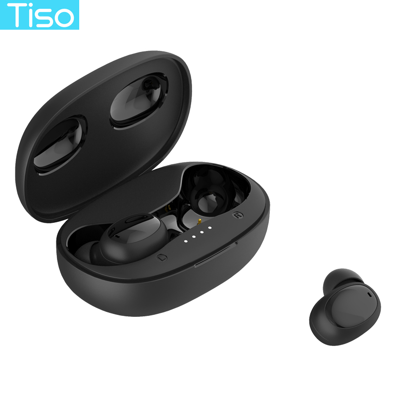 Tiso no delay seamless role switch earphones dual-mode Bluetooth connection hall magnetic suction switch headphone with MIC